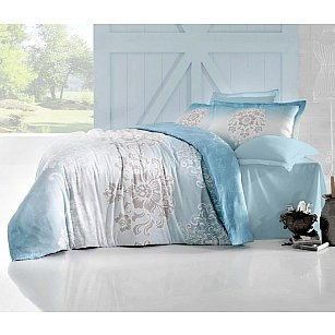 Комплект постельного белья ALTINBASAK ILMA Сатин (2 спальный), голубой