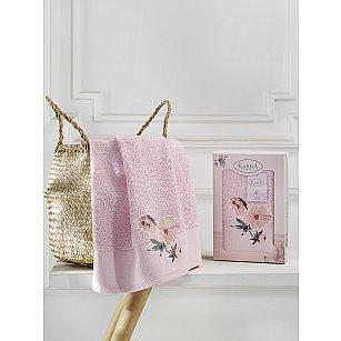 """Полотенце махровое в коробке """"KARNA VALDI"""", розовый, 50*90 см"""