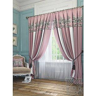 """Комплект штор """"Серсея"""", розовый, 260 см"""