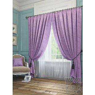 """Комплект штор """"Элисс"""", фиолетовый, 260 см-A"""
