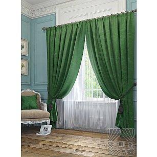 """Комплект штор """"Элисс"""", зеленый, 260 см"""