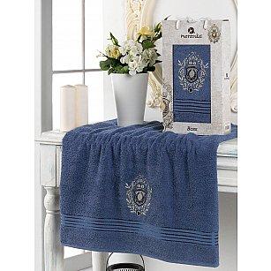 Полотенце махровое в коробке Merzuka Boss, темно-голубой, 50*80 см