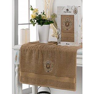 Полотенце махровое в коробке Merzuka Boss, коричневый, 70*130 см