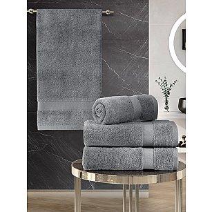 """Комплект махровых полотенец """"KARNA AREL"""" (50*100*2; 70*140*2), серый"""