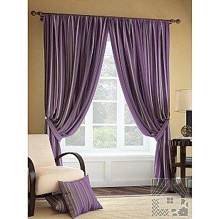 """Комплект штор """"Палис"""", фиолетовый, 275 см"""