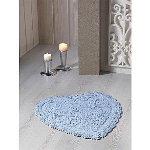 """Коврик для ванной кружевной """"MODALIN SISLEY"""", голубой, 60*65 см"""