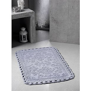 """Коврик для ванной кружевной """"MODALIN DARIN"""", серый, 55*85 см"""