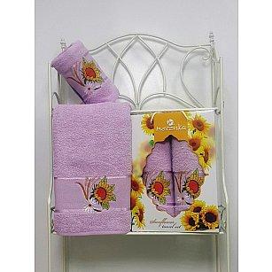 Комплект махровых полотенец Merzuka Sunflower дизайн 03 (50*80; 70*130)