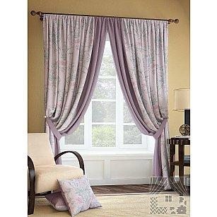 """Комплект штор """"Инцас"""", розово-фиолетовый, 280 см"""