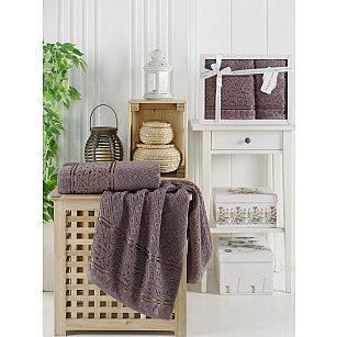 Комплект махровых полотенец Philippus MOTTYA (50*90; 70*140), шоколадный