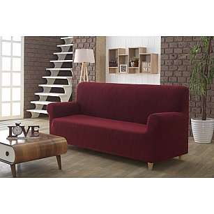 """Чехол для дивана """"KARNA ROMA"""" трехместный, бордовый"""