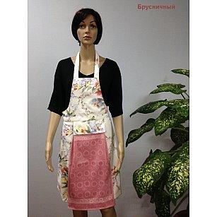 """Комплект для кухни """"KARNA"""" с салфеткой, брусничный"""