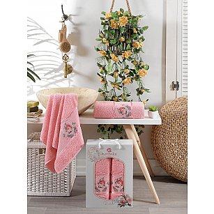 Комплект махровых полотенец Merzuka Rose (50*80; 70*130), персиковый