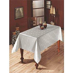 Скатерть с люрексом Do&Co, серебряная, 160*220 см