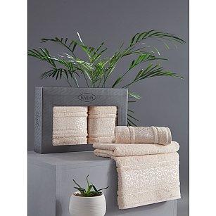 "Комплект из 2-х полотенец бамбук ""KARNA ARMOND"" (50*90; 70*140), бежевый"