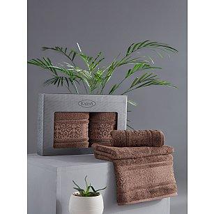 "Комплект из 2-х полотенец бамбук ""KARNA ARMOND"" (50*90; 70*140), коричневый"