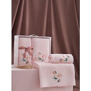 """Комплект из 2-х махровых полотенец """"KARNA VALDI"""" (50*90; 70*140), розовый"""