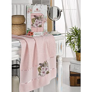 Полотенце махровое MERZUKA HIBISCUS, розовый, 50*80 см