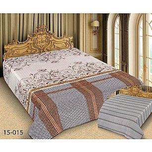 Покрывало Barokko №15-015, бежевый, серый, 150*220 см