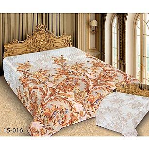 Покрывало Barokko №15-016, белый, бежевый, 150*220 см