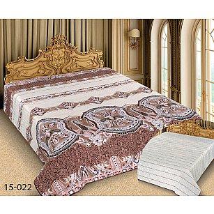 Покрывало Barokko №15-022, белый, коричневый, 150*220 см