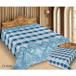 Покрывало Barokko №15-024, голубой, синий