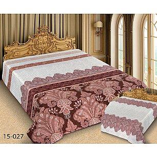 Покрывало Barokko №15-027, белый, розовый, 150*220 см
