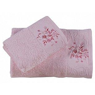 """Комплект из 2-х махровых полотенец (50*90; 70*140) """"KARNA VIOLA"""", светло-розовый"""