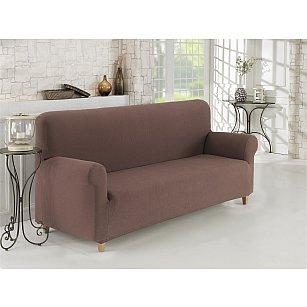 """Чехол для дивана """"KARNA NAPOLI"""" трехместный, коричневый"""