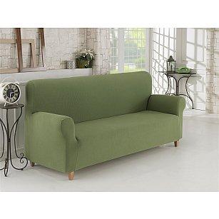 """Чехол для дивана """"KARNA NAPOLI"""" трехместный, зеленый"""
