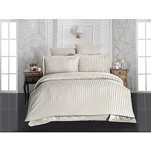 Комплект постельного белья KARNA PERLA Бамбук (Евро), бежевый