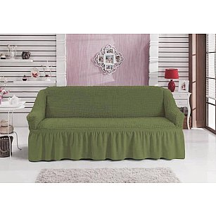 """Чехол для дивана """"BULSAN"""" трехместный, зеленый"""