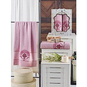 Комплект махровых полотенец MERZUKA ART (50*90; 70*140), светло-розовый