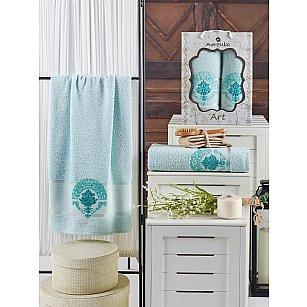 Комплект махровых полотенец MERZUKA ART (50*90; 70*140), мятный