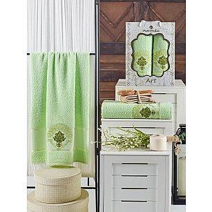 Комплект махровых полотенец MERZUKA ART (50*90; 70*140), фисташковый