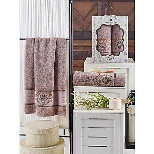 Комплект махровых полотенец MERZUKA ART (50*90; 70*140), темно-серый