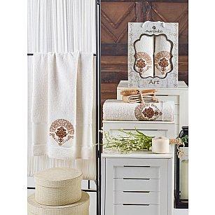 Комплект махровых полотенец MERZUKA ART (50*90; 70*140), кремовый