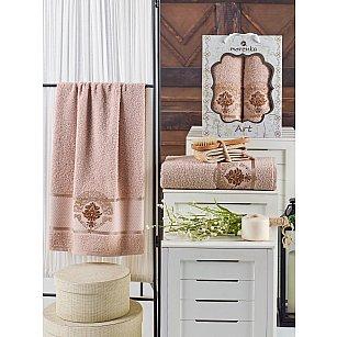Комплект махровых полотенец MERZUKA ART (50*90; 70*140), песочный