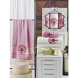 Комплект махровых полотенец MERZUKA ART (50*90*2; 70*140), светло-розовый