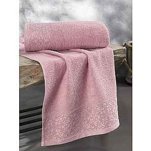 "Полотенце махровое ""KARNA MELEN"", грязно-розовый"