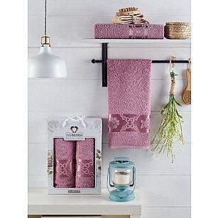 Комплект махровых полотенец TWO DOLPHINS MELISSA (50*90; 70*140), лиловый