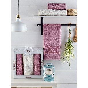 Комплект махровых полотенец TWO DOLPHINS MELISSA (50*90*2; 70*140), лиловый