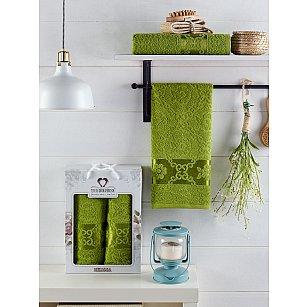 Комплект махровых полотенец TWO DOLPHINS MELISSA (50*90; 70*140), зеленый