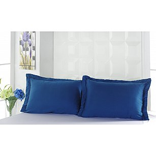 "Комплект наволочек сатин ""KARNA SERVAN"", синий (саксен), 50*70 см"