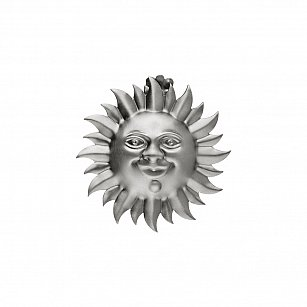 """Держатель-клипса для штор """"Улыбка солнца"""", дизайн 115.709, титан"""