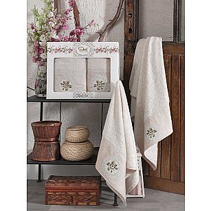 Комплект бамбуковых полотенец SIKEL KANAVICE (50*90; 70*140), бежевый