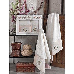 Комплект бамбуковых полотенец SIKEL KANAVICE (50*90; 70*140), кремовый