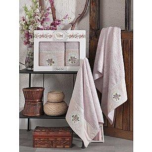 Комплект бамбуковых полотенец SIKEL KANAVICE (50*90; 70*140), лиловый