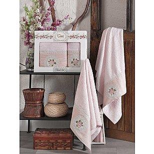 Комплект бамбуковых полотенец SIKEL KANAVICE (50*90; 70*140), розовый