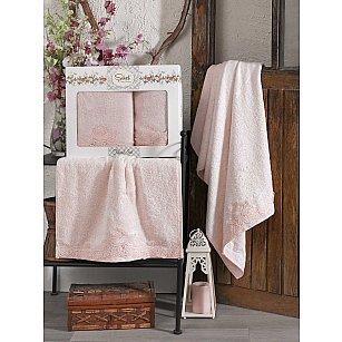 Комплект бамбуковых полотенец SIKEL BERHAMIS (50*90; 70*140), персиковый